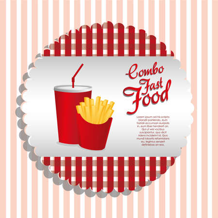 frites: label combo of fries and soda