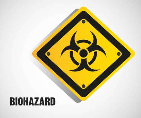 riesgo biologico: señal de peligro biológico aislado sobre fondo blanco Vectores