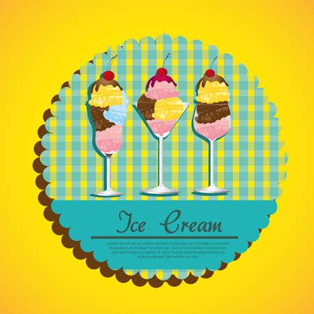 vanilla pudding: etiqueta de helado sobre un fondo verde
