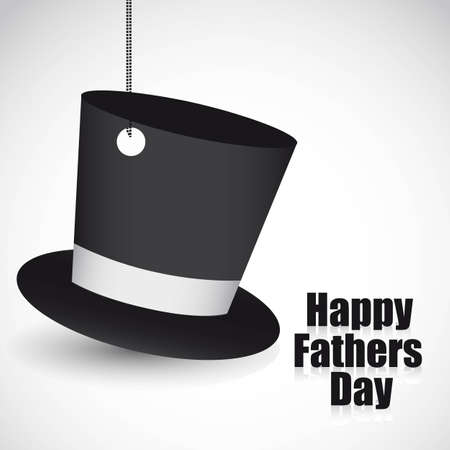 stovepipe: black top hat hanging, vector illustration