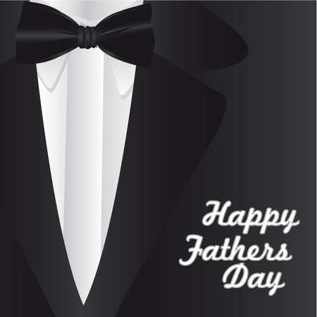 father's: Happy Fathers Day, holiday card with formal suit and tie
