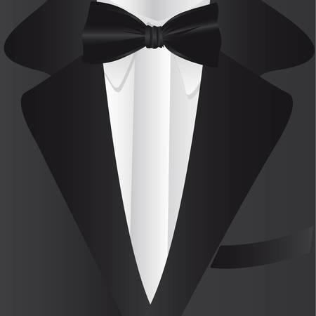 Abito scuro e cravatta, primo piano, illustrazione vettoriale