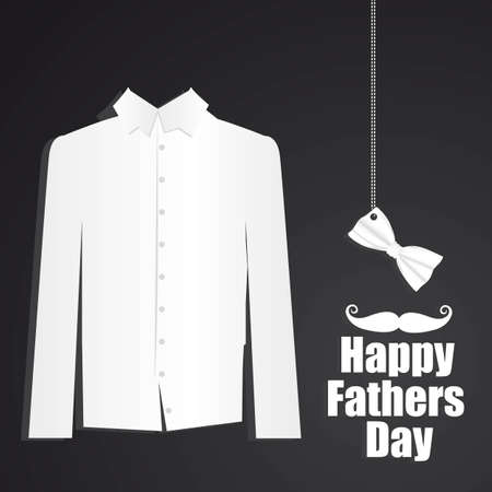 Father's Day card with formal attire with bow tie Stock Vector - 13773861