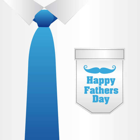 Fathers Day card, a formal suit and tie, close up Vector