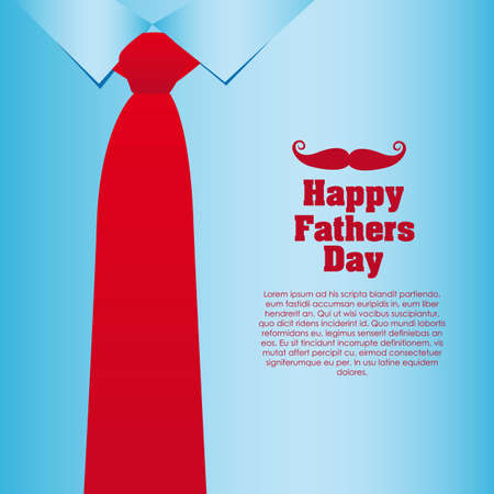 Father's Day card, a formal suit and tie, close up Stock Vector - 13774249