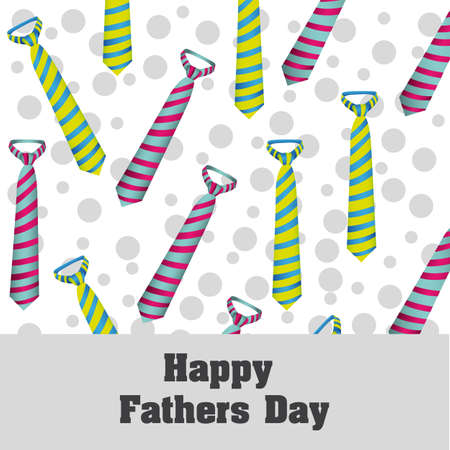 father day: Happy Fathers Day, holiday card with ties and dots Illustration