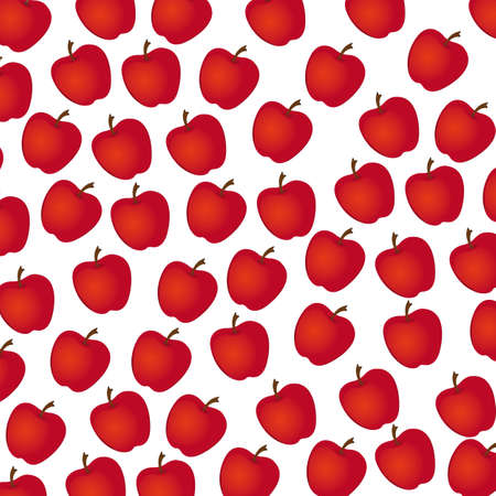 apple  pattern on white background, illustration Vector
