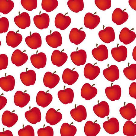 apple  pattern on white background, illustration Stock Vector - 13774550