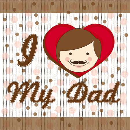 illustration of fathers day, fathers background with lines Vector