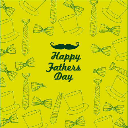 daddy: tie pattern  on a green background, illustration