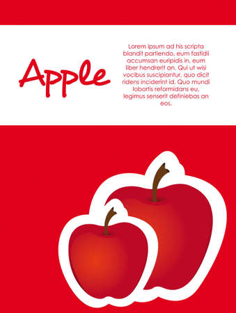 stickers apple red dot background, vector illustration Vector