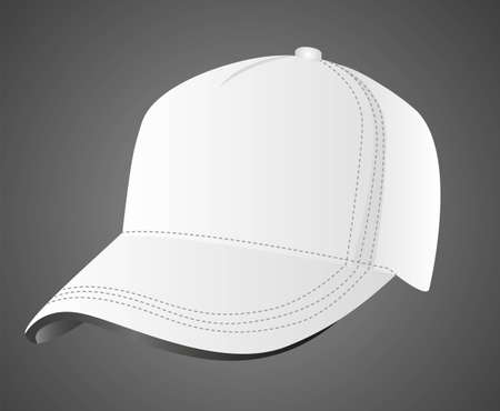 illustration of white cap, isolated on black background, vector illustration Stock Vector - 14043357