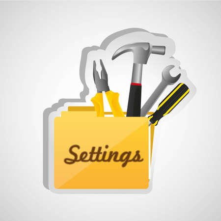 settings folder icon isolated on white background Vector