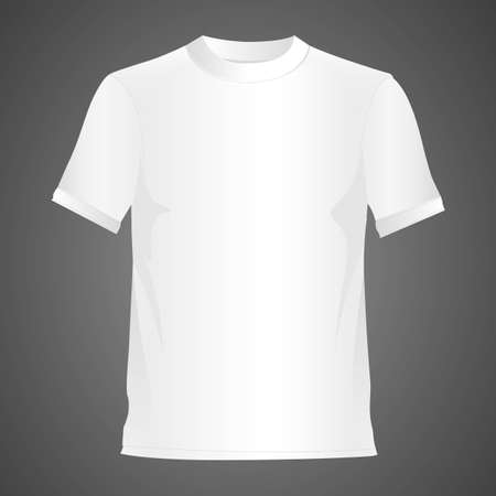 White T-shirt, isolated on black background Vector