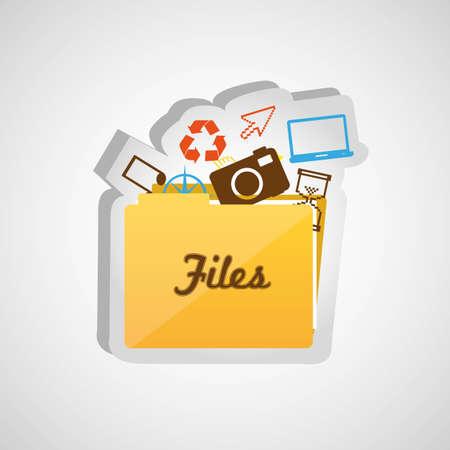 File folder icon isolate on white background Vector
