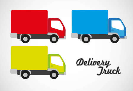 moving van: Vector illustration of truck, isolated on white background Illustration