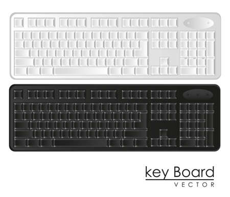 computer keyboards black and white, Stock Vector - 14040871