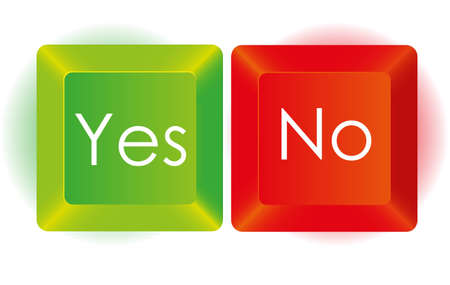 Yes and No button, in red and green, Stock Vector - 14040864