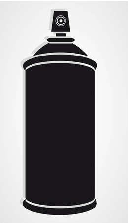 spr�hflasche: Spr�hflasche Silhouette auf wei�em Hintergrund