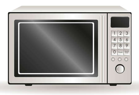defrost: Illustration of a microwave, isolated on white background