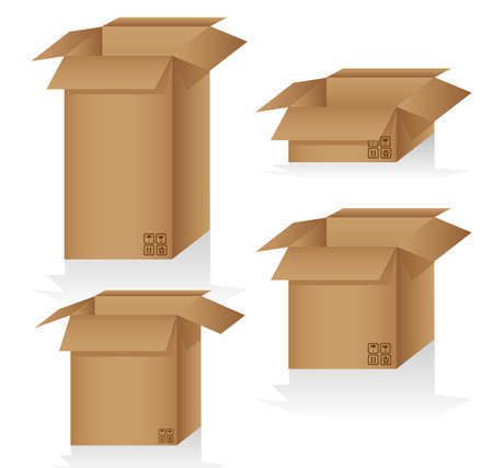 sizes: Set of cardboard boxes of different sizes