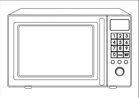 Illustration of a microwave, isolated on white background Stock Vector - 14083030