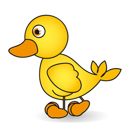 Cartoon of a rubber duck  ule isolated on white background Vector