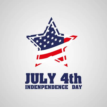 american history: Illustration of the day of United States independence, July 4