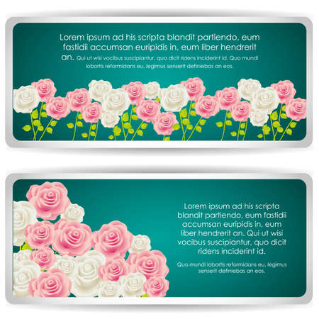 Card with colorful roses, vector illustration Stock Vector - 14239870