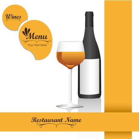 rt: Elegant card for wines menu, vector illustration