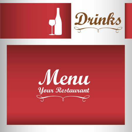 Elegant card for wines menu, vector illustration Vector
