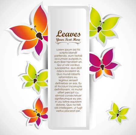 lilas: Card with some beautiful butterflies vector illustration