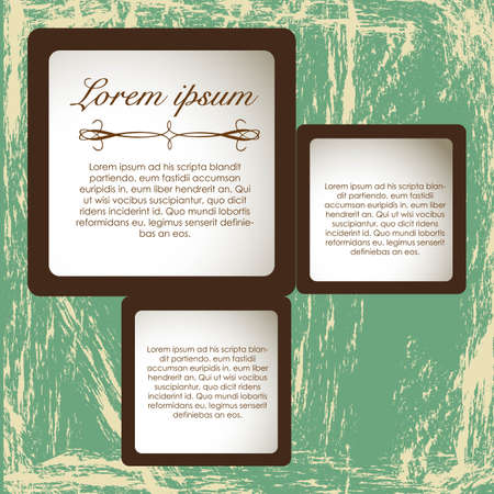 Modern square text on vintage background, vector illustration Vector