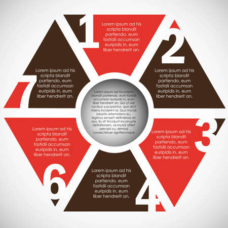 numbering: Numbering in polygon color, step by step. vector illustration