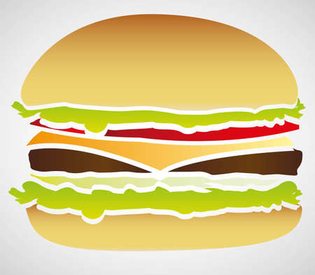 silhouette of a hamburger isolated on white background, vector illustration Stock Vector - 14345194
