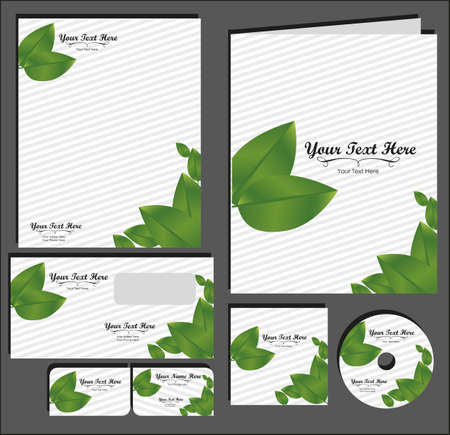 Set of material corporate image. contains, on, letterhead, folders, business card , cd label, vector illustration Stock Vector - 14345260