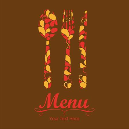 Elegant card for restaurant menu, with spoon, knife and fork vector illustration Stock Vector - 14345219