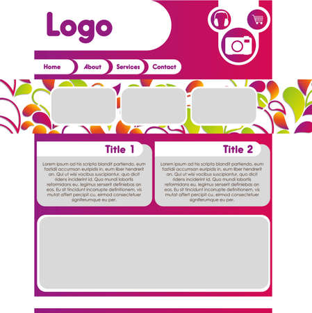 Colorful web template, vector illustration Vector