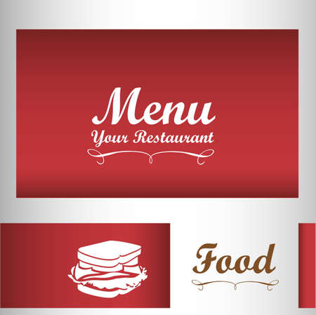 Elegant card for restaurant menu, vector illustration Vector