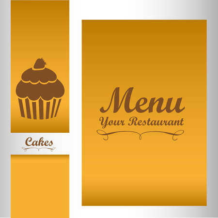 Elegant card for dessert menu, vector illustration Stock Vector - 14345226