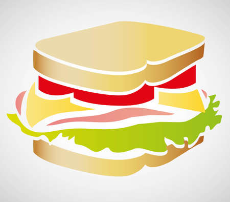Illustration of a sandwich isolated on white background, vector illustration Vector