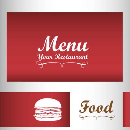 Elegant card for restaurant menu, with spoon, knife and fork vector illustration Vector