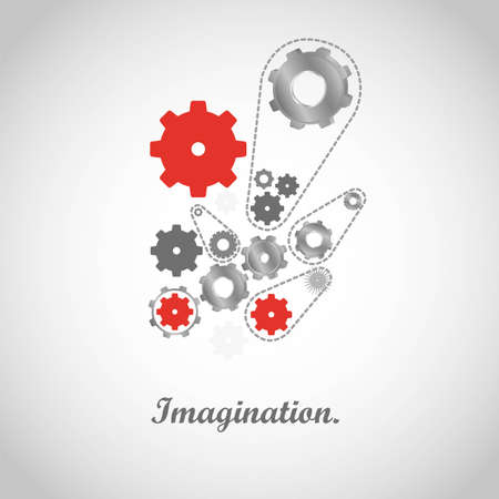 gears of colors isolated on gray,   illustration Vector