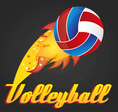 illustration with volleyball ball; vector illustration Vector
