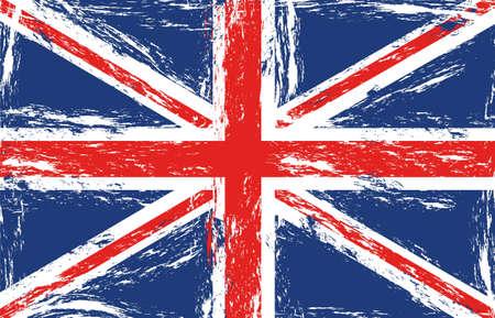 inglaterra: Bandeira grunge Londres, ilustra��o vetorial