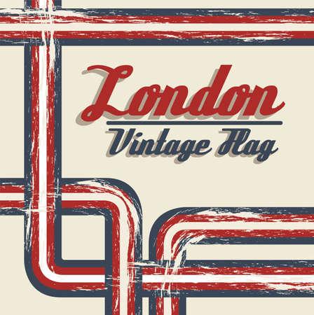 vintage grunge illustration of the london 2012 olympics, vector illustration Vector