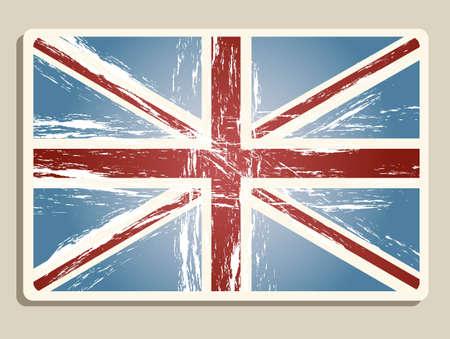 Vintage london flag illustration; vector illustration Vector