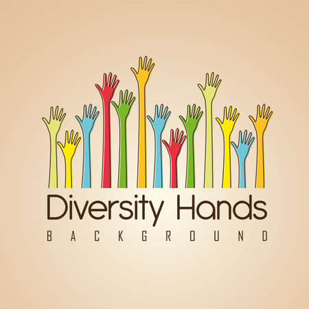 hands of different colors. cultural and ethnic diversity, vector illustration Stock Vector - 14472991