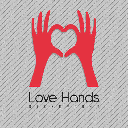 illustration of hands forming a heart, vector illustration Stock Vector - 14472984