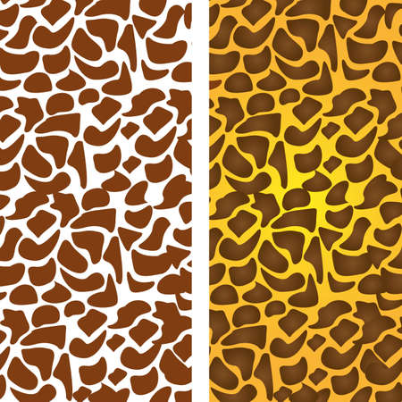 pattern of animal print, giraffe skin texture, vector illustration Stock Vector - 14472996